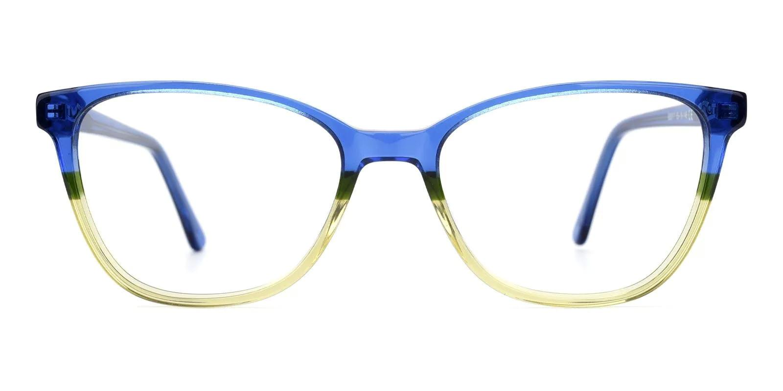 Rosemary Blue Acetate Eyeglasses , Fashion , SpringHinges , UniversalBridgeFit Frames from ABBE Glasses