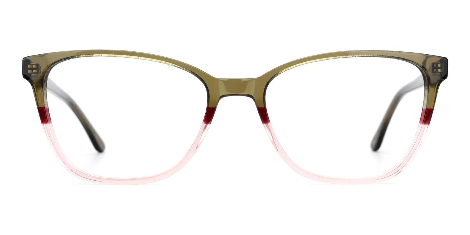 Rosemary Green Acetate Eyeglasses , Fashion , SpringHinges , UniversalBridgeFit Frames from ABBE Glasses