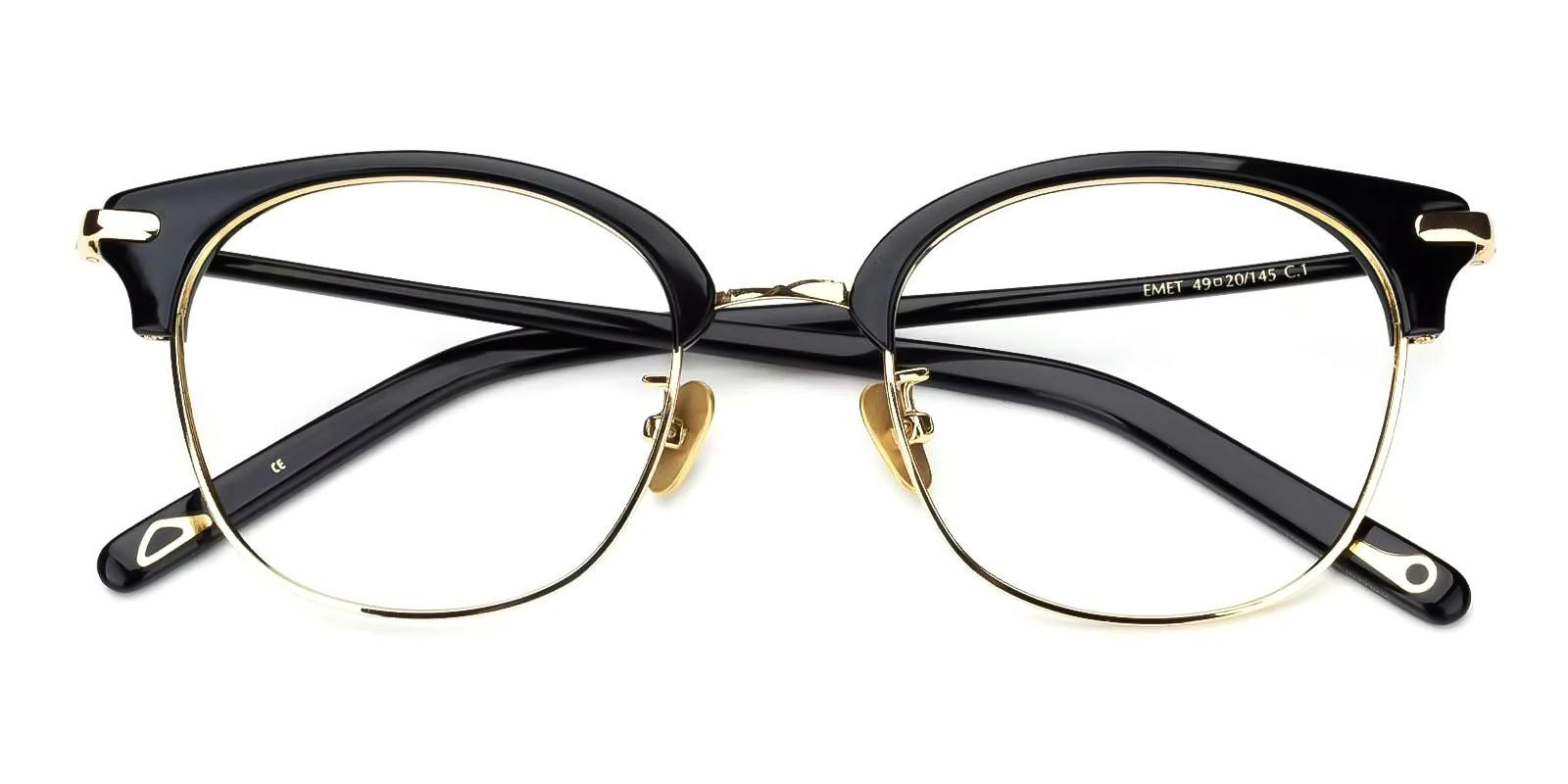 Adonia Black Combination Eyeglasses , Fashion , NosePads Frames from ABBE Glasses