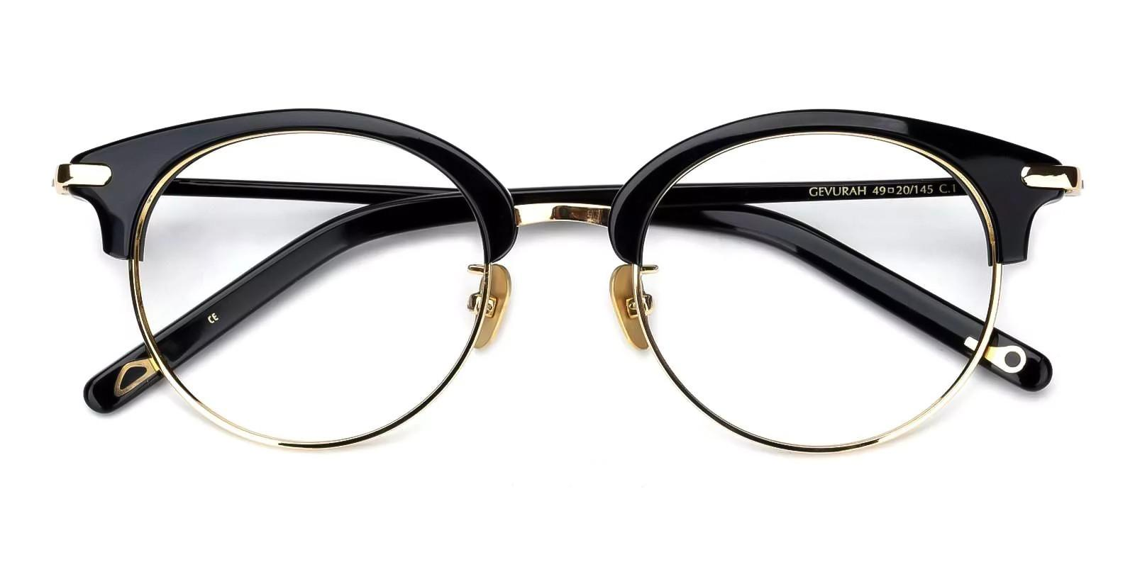 Yvonne Gold Combination Eyeglasses , Fashion , NosePads Frames from ABBE Glasses