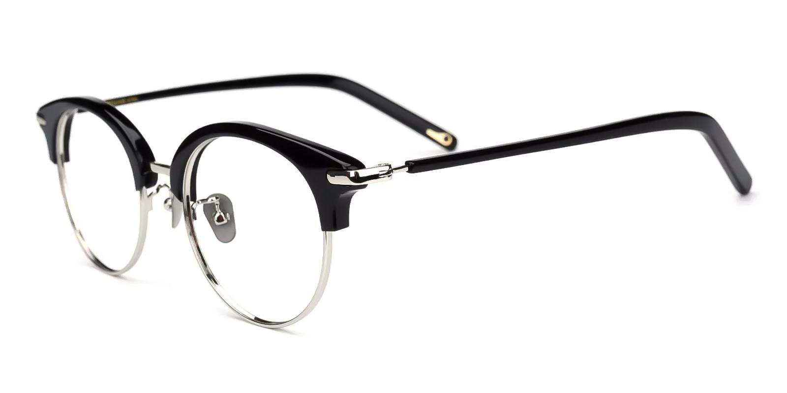 Yvonne Silver Combination Eyeglasses , Fashion , NosePads Frames from ABBE Glasses