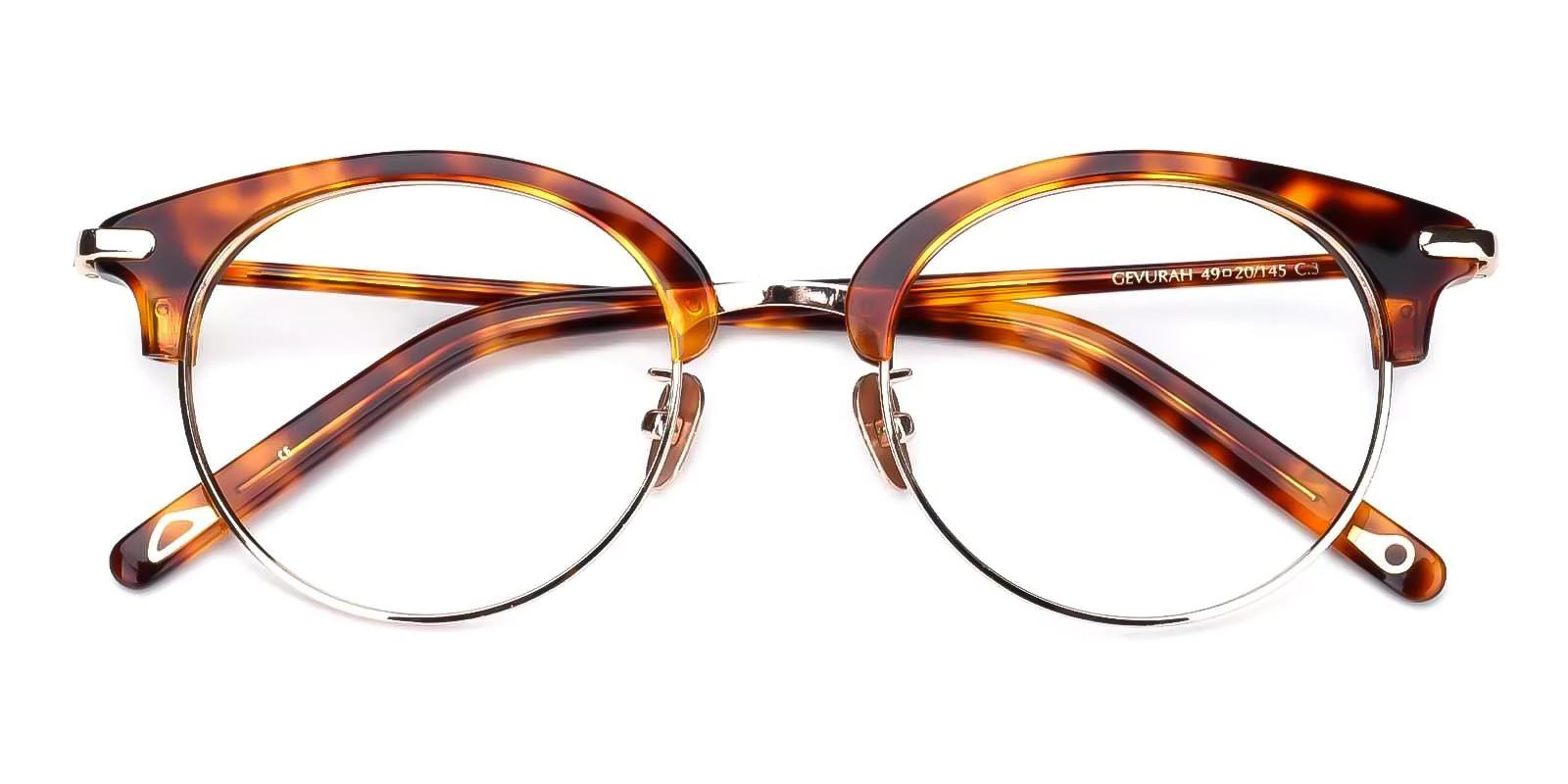 Yvonne Tortoise Combination Eyeglasses , Fashion , NosePads Frames from ABBE Glasses