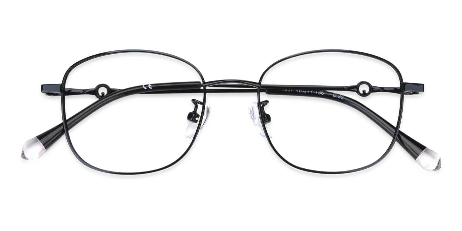 Defeny Black Metal Eyeglasses , Fashion , NosePads Frames from ABBE Glasses