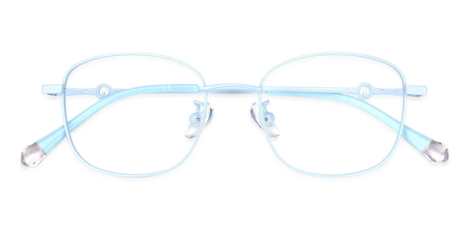 Defeny Blue Metal Eyeglasses , Fashion , NosePads Frames from ABBE Glasses
