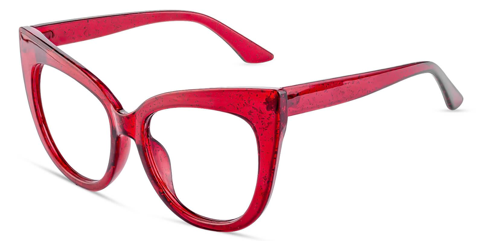 Cassian Red Plastic Eyeglasses , Fashion , UniversalBridgeFit Frames from ABBE Glasses