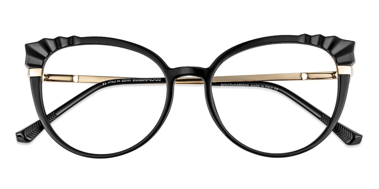 Iconic Black Combination Eyeglasses , Fashion , SpringHinges , UniversalBridgeFit Frames from ABBE Glasses