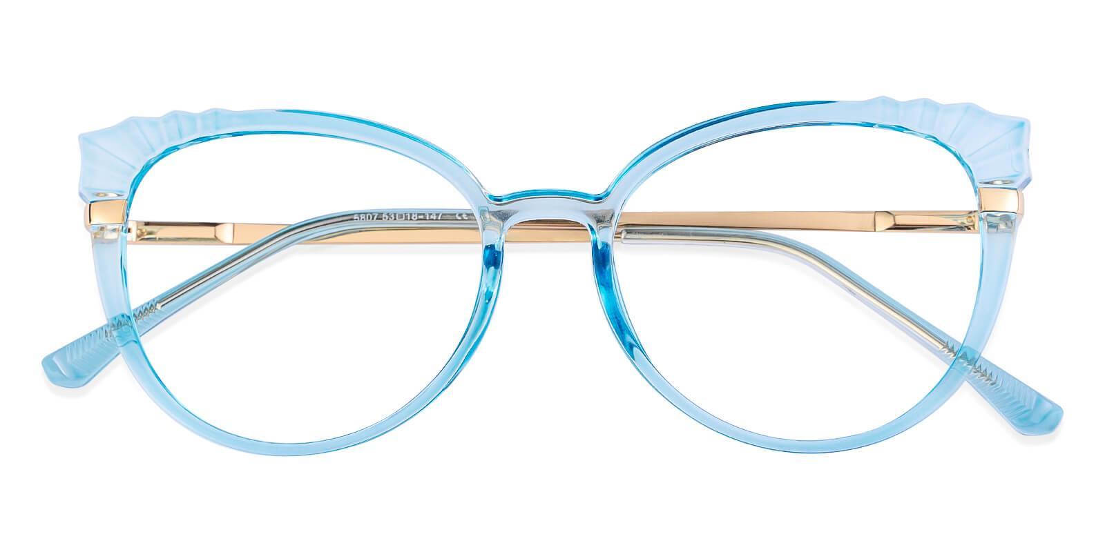 Iconic Blue Combination Eyeglasses , Fashion , SpringHinges , UniversalBridgeFit Frames from ABBE Glasses