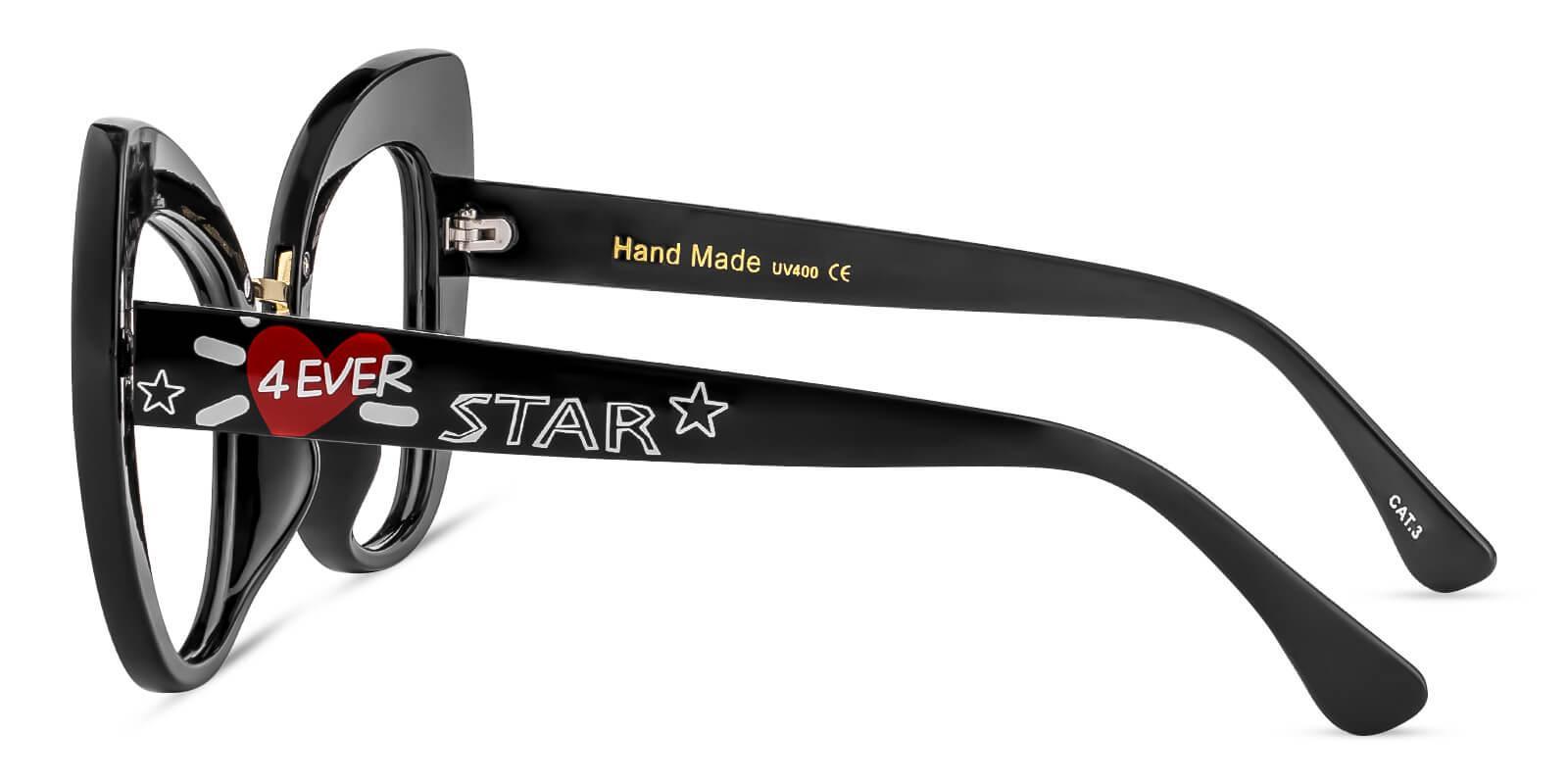 Dynamo Black Plastic Eyeglasses , Fashion , UniversalBridgeFit Frames from ABBE Glasses
