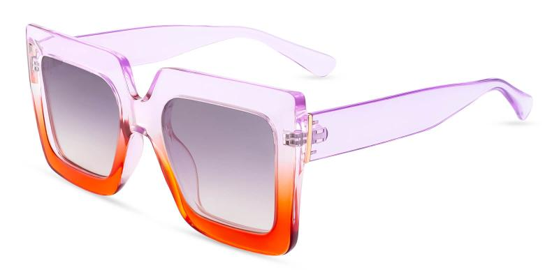 Purple Riddle - Plastic ,Sunglasses
