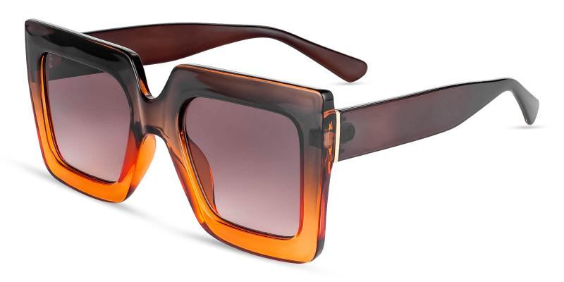 Brown Intrigue - Plastic ,Sunglasses