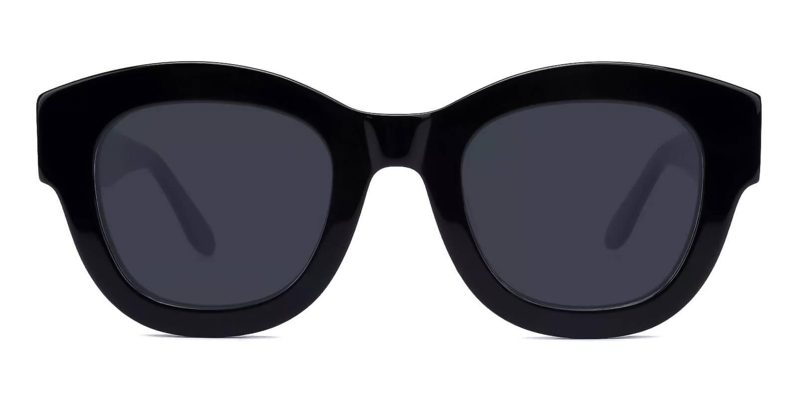 Meridian Black Acetate Fashion , Sunglasses , UniversalBridgeFit Frames from ABBE Glasses