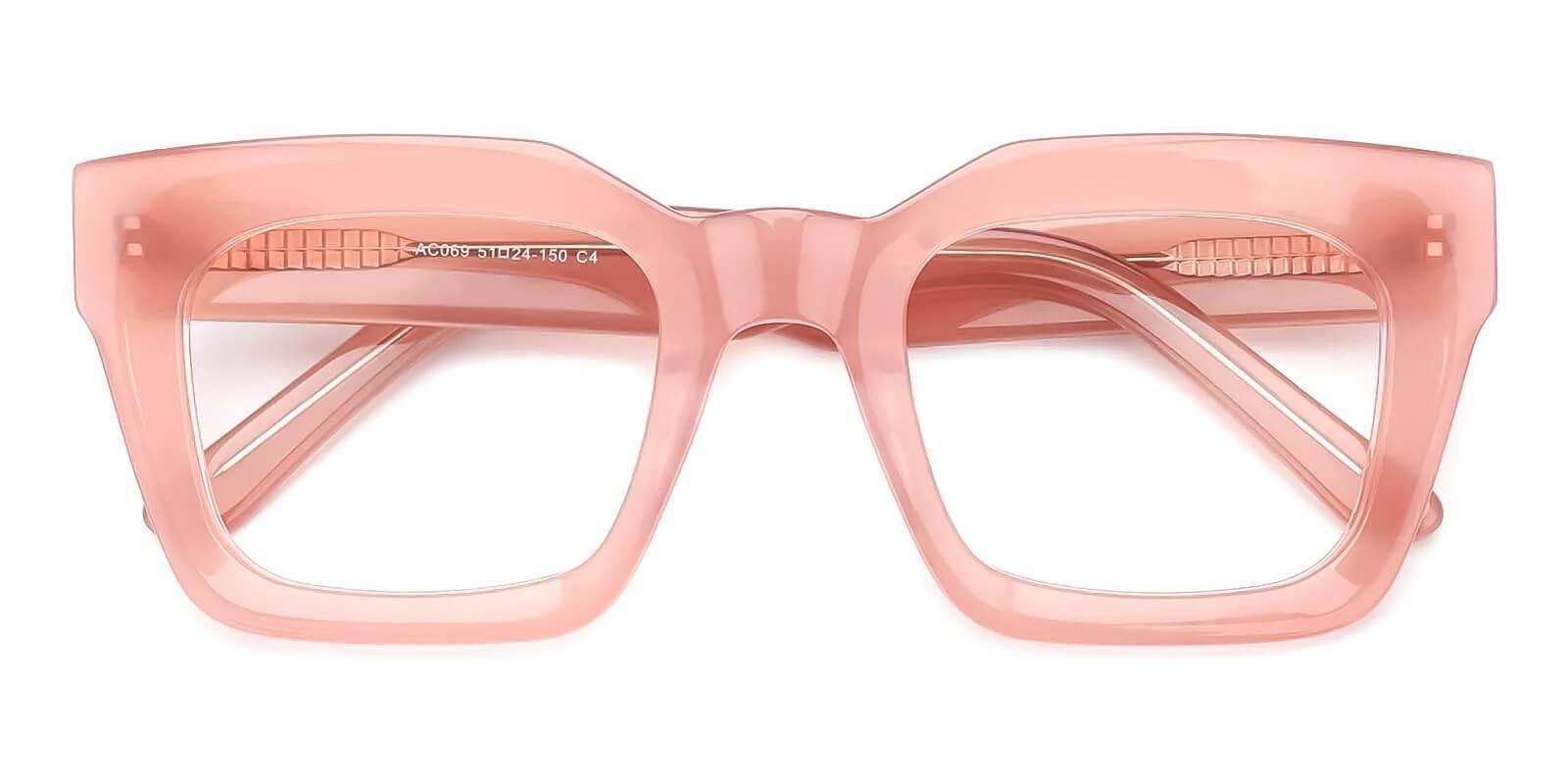 Cloud Pink Acetate Eyeglasses , Fashion , UniversalBridgeFit Frames from ABBE Glasses