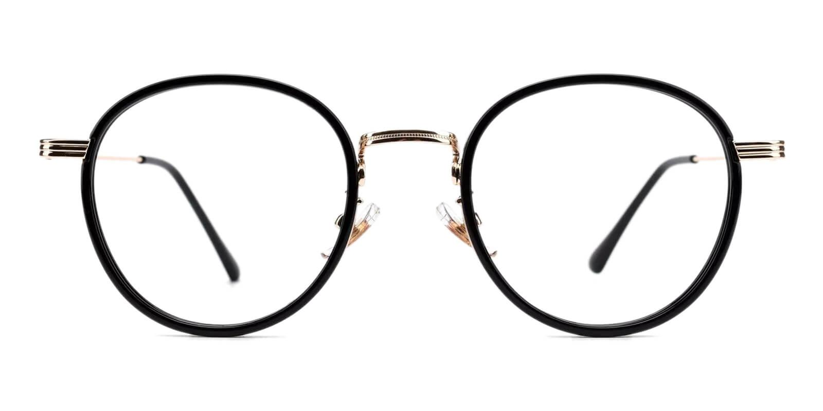 Quennell Black Metal Eyeglasses , Fashion , NosePads Frames from ABBE Glasses