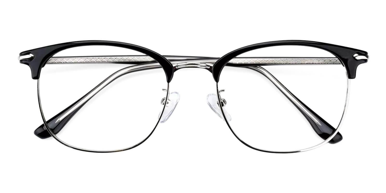 Tristan Black Metal Eyeglasses , Fashion , NosePads Frames from ABBE Glasses