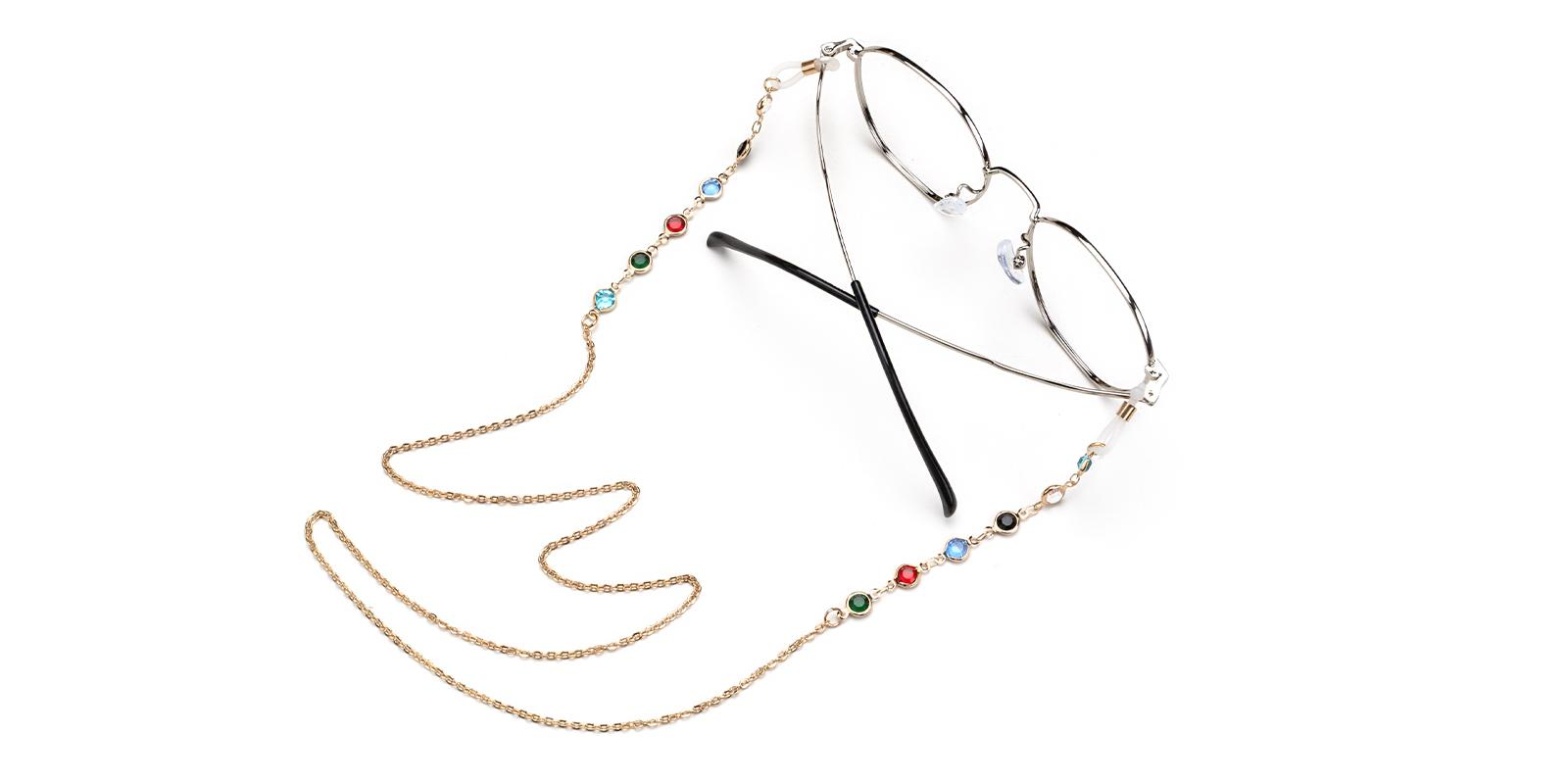 Metal Eyeglass Chain Gold   Frames from ABBE Glasses