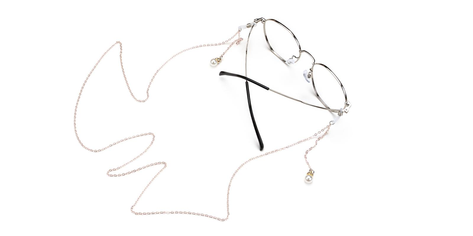 Metal Eyeglass Chain Silver   Frames from ABBE Glasses